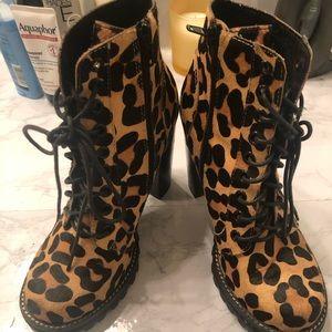 Cheetah print Jeffrey Campbell boots